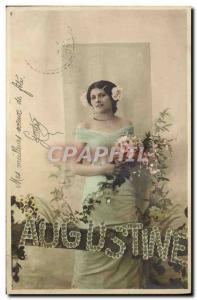 Old Postcard Fancy Surname Augustine