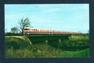 IL Amtrak Turboliner Railroad Train LINCOLN ILLINOIS PC