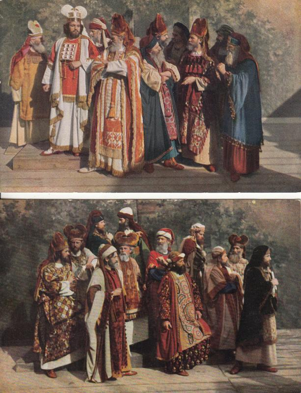 Passionsspiele Oberammergau 1922 The high priests & High councilors costumes
