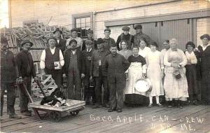 Harmony ME Soco Apple, Can-Crew RPPC Postcard