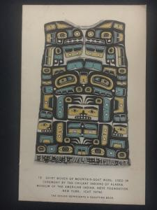 Mint AK USA Postcard Native American Indian Eskino Chilkat Short Weaving