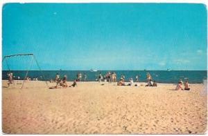 Mississippi Gulf coast - boating, swimming, sunbathing, playing, building castle