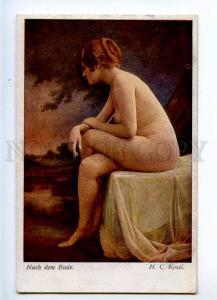226746 NUDE Belle Lady after Bath by KOSEL Vintage postcard