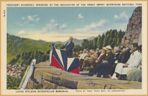 President Roosevelt at the Dedication of the Great Smoky Mountains Nat. Park