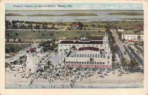 Fisher's Casino Miami Beach Florida 1920s postcard
