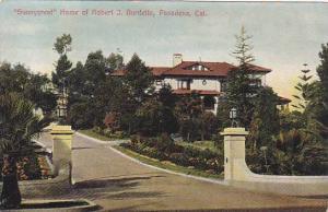 Sunnycrest Home of Robert J. Burdette,  Pasadena, California, 00-10s