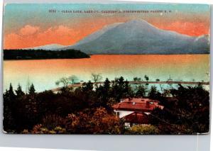 Clear Lake, Lake Co., California Northwestern Pacific Railroad Vtg Postcard I10