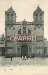 Postcard Old Nantes The Protestant Temple
