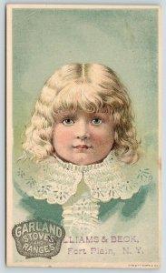 Fort Plain New York~Blue Eyed Blonde Victorian Girl~Garland Stoves & Ranges~VTC