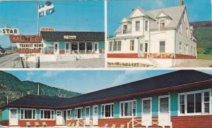 3-Views, Star Motel, Perce, Quebec, Canada, 40-60s