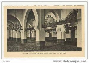 Grande Mosquee, lampes et boiseries, 00-10s Algeria