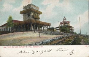 Mt. Penn Tower, Summit Hotel  Reading PA vintage postcard, A.C Busselman & Co