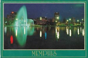 Memphis At Night From Mud Island Memphis Tennessee 1988