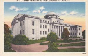 Library, University Of South Carolina, COLUMBIA, South Carolina, 1930-1940s
