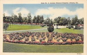 Atlanta Georgia~Lawson General Hospital-Gate #2~Beautiful Flower Garden~1945 Pc
