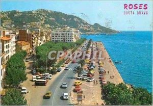 Postcard Modern Roses Costa Brava 1191 the ample access to the vila