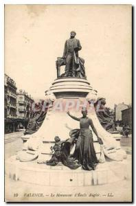 Old Postcard Valencia Monument Emile Augier