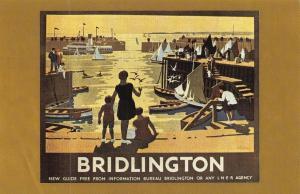 Postcard Nostalgia LNER Railway Poster c1930 BRIDLINGTON Reproduction Card