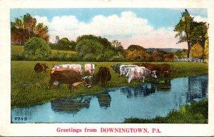 Pennsylvania Greetinsgs From Downingtown 1934