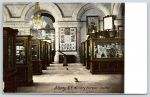 Albany New York~Capitol~Military Bureau~Display Cases~c1910