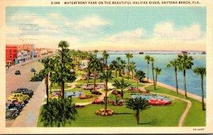 Florida Daytona Beach Waterfront Park On The Beautiful Halifax River 1941 Cur...