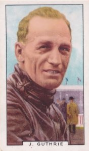 Jimmy Guthrie Motorcycle Racing Champion 1930s Cigarette Card