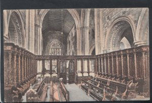 Cumbria Postcard - Cartmel Church, Choir West   T5936