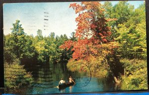 Peaceful Retreat Canoe 1968 Michigan Vintage Postcard