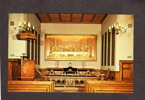TN Woodcarving Last Supper Jesus Religious Chapel Nashville Postcard Tennessee