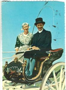 Friese Klederdracht, Dutch couple in carriage, 1960s used