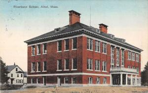 Athol Massachusetts Riverbend School Street View Antique Postcard K36454