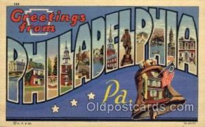 Philadelphia, Pennsylvania Large Letter Town Towns Post Cards Postcards  Phil...