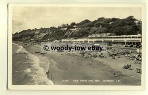 iw0175 - Sandown Promenade from the Pier , Isle of Wight - postcard by Dean