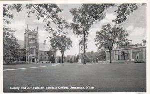 Library and Art Building Bowdoin College Brunswick Maine Curteich
