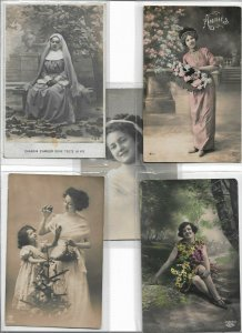Beautiful Woman RPPC Postcard Lot of 10 01.10