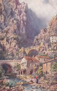 MENTON, Alpes Maritimes, France, 1900-1910s; Le Pont Saint-Louis, Frontiere I...