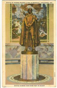 Statue of George Rogers Clark in Memorial, Vincennes, Indiana, unused linen
