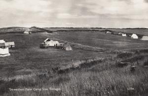 Trewethett Camping Caravan Site Tintagel Cornwall Real Photo Postcard