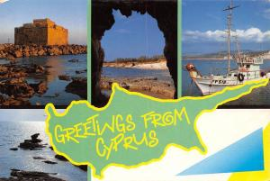 Cyprus Greetings from Cyprus multiviews Boat Castle Schloss