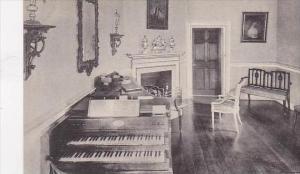 Virginia Mt Vernon Home Of George Washington Miss Custis Music Room-Albertype