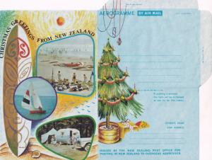 1970s Caravan Fantail Bird 6x New Zealand Christmas Aerogramme s