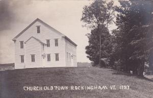 RP: ROCKINGHAM , Vermont , 1900-10s ; Church , Old Town