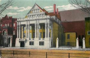 St Paul Minnesota~Elk's Home~Rice Park~Ornate Building~Obelisks Guard Lot~1910
