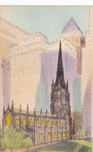 Trinity Church NYC, New York City - Hand-Colored - DB