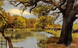 Vintage c1955 Postcard, Benbow Pond, Easebourne, West Sussex, Classic Cars 70Z