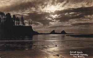 California Sunset Beach Roosevelt Highway Real Photo
