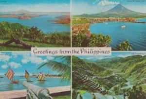 Greetings from the Philippines 1980s Postcard