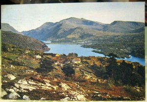 Wales The Snowdon Massif from Fachwen Caernarvonshire - posted 1968