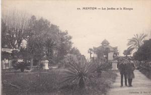 MENTON, Alpes Maritimes, France, 1900-1910's; Les Jardins Et Le Kiosque
