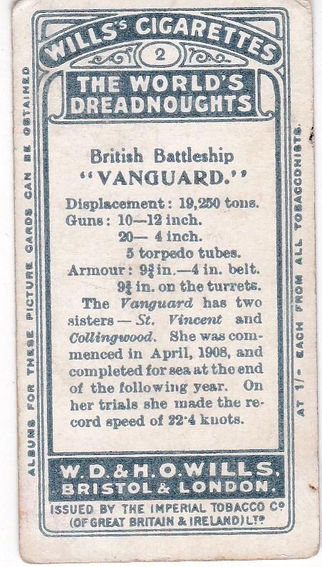 Cigarette Card Wills The World's Dreadnoughts (1910) No. 2